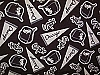 Chicago White Sox Black MLB Baseball Fleece Fabric Print